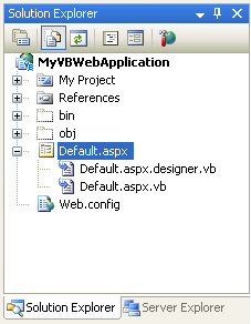 understanding code behind with vs 2005 web application projects