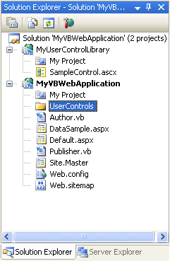 Creating and Using User Control Libraries