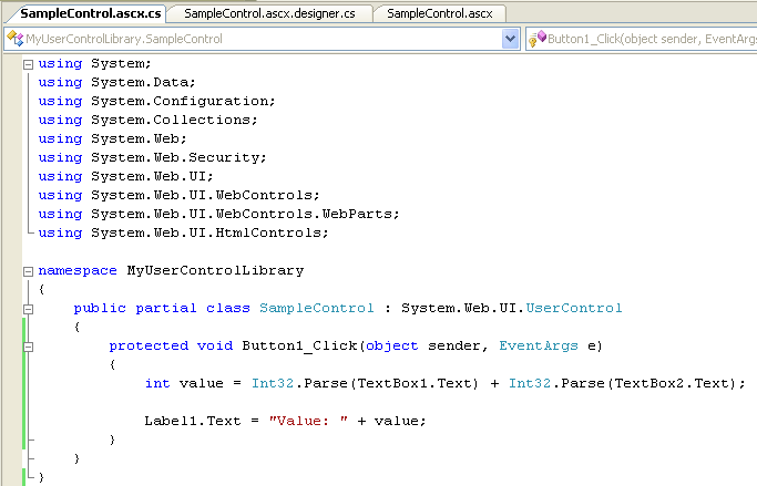 Creating and using user control libraries.